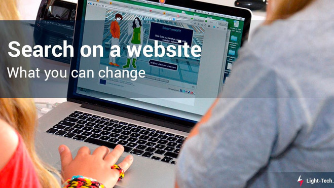 Search on a website: what you can change