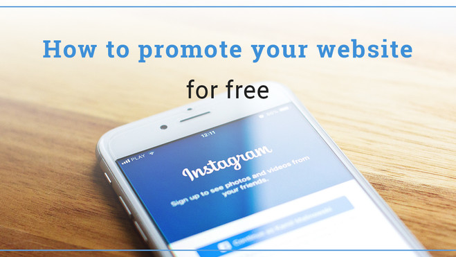 How to promote your website for free
