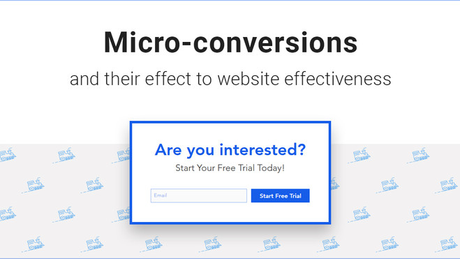 Micro-conversions and their effect to website effectiveness