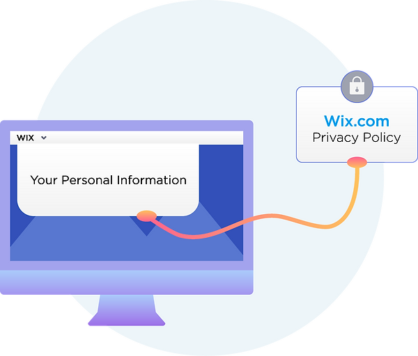 All your personal information stored by Wix