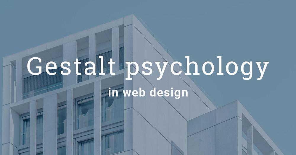 Gestalt psychology in web design