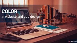 Color in website and app design