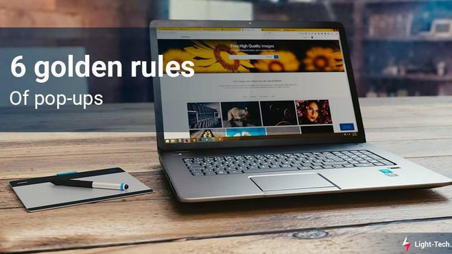 6 golden rules of pop-ups
