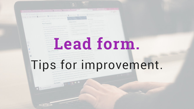 Lead form. Tips for improvement