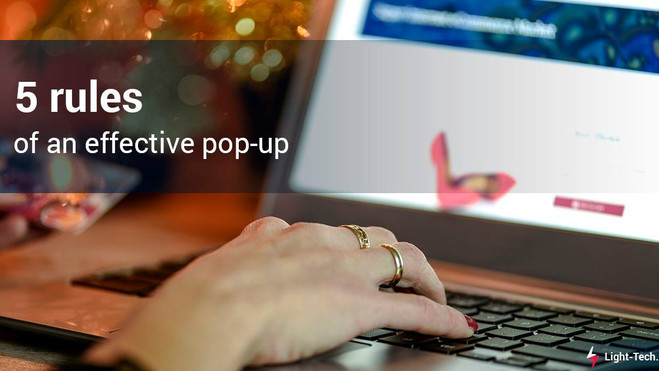 5 rules of an effective pop-up