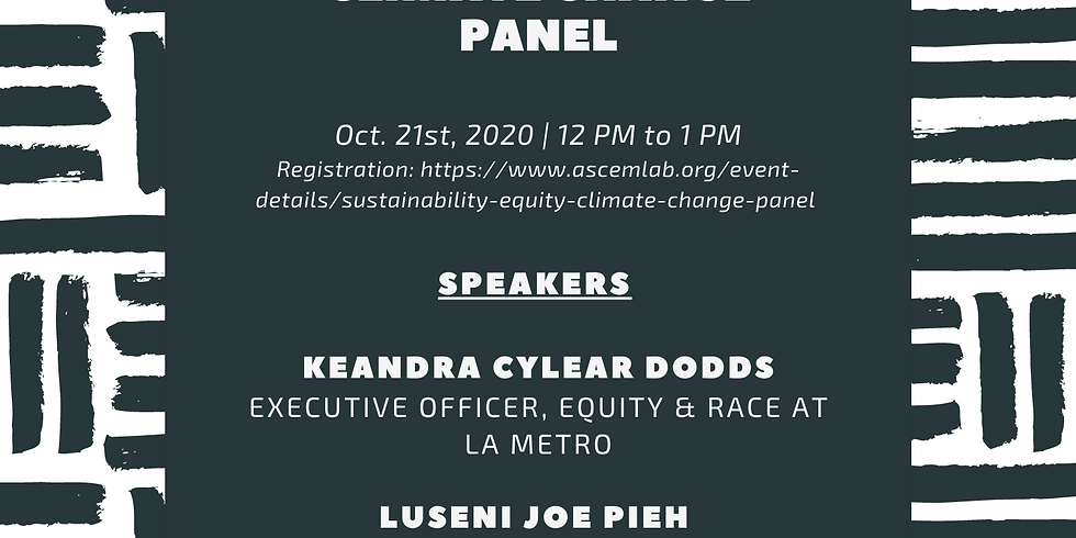 ASCE LA Section Sustainability-Equity-Climate Change Panel