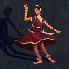 Went to watch a friend's 8 year Kathak e