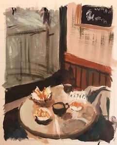 30 minute prompt: Coffee Shop @luluosket