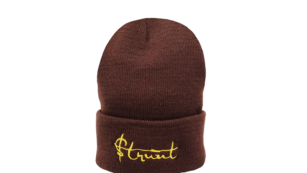 $trunt King knit cap - brown