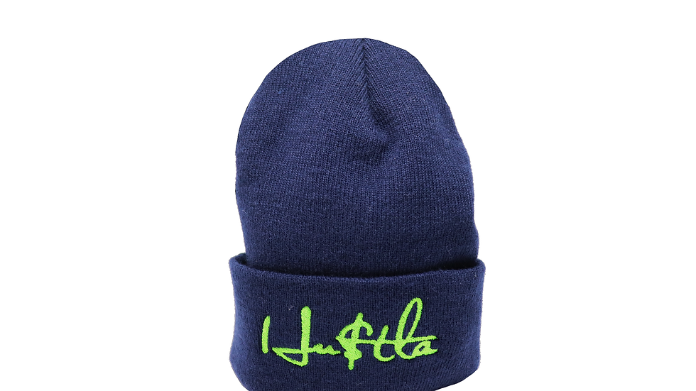 HU$TLA Knit Cap - Navy