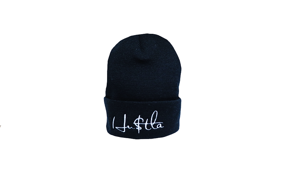 HU$TLA Knit Cap - black
