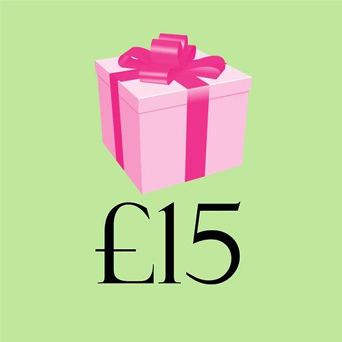 Gift Voucher £15