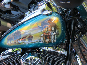 Artwork on a Harley