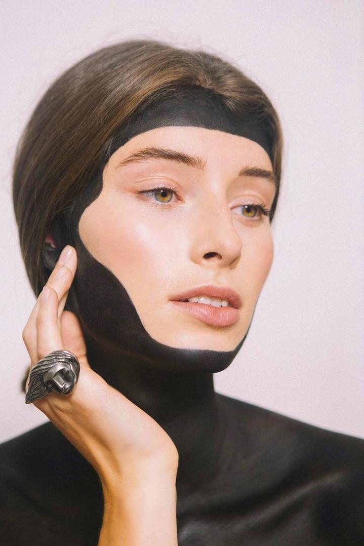 PHOTOGRAPHER Lottie Turner  HAIR AND MAKEUP Charlotte Fitzjohn  MODEL Maria / Elite Models  August, 2019.