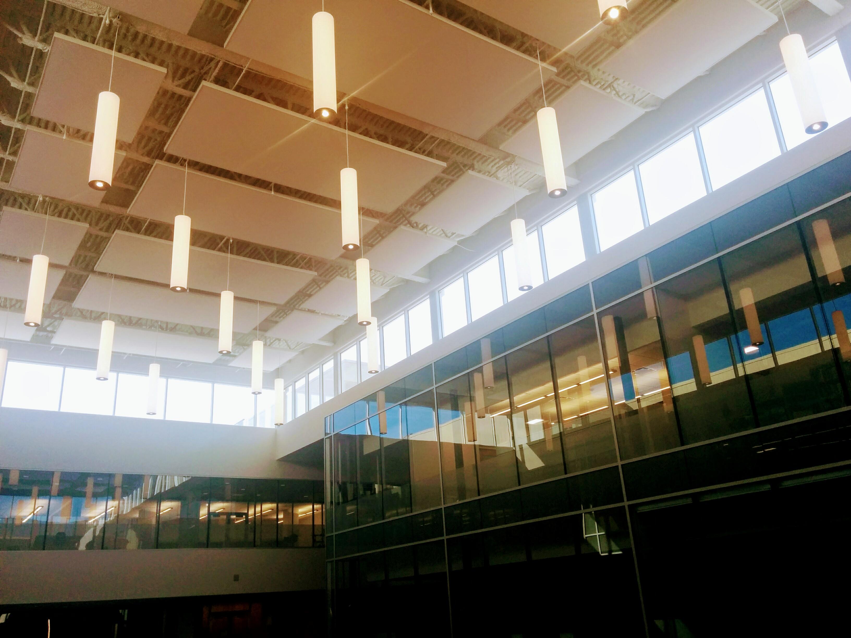 Atrium of light, looking upward
