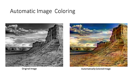 Black-and-white landscape converted to color