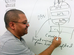 Professor at whiteboard