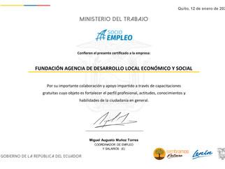 Ministerio del Trabajo y Red Socio Empleo entrega reconocimiento