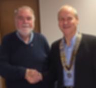 President Ralph welcomes new Club Member