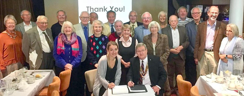 Rotary members sign up to raise £1000 by the end of the year for the Countess Mountbatten Hospital Charity