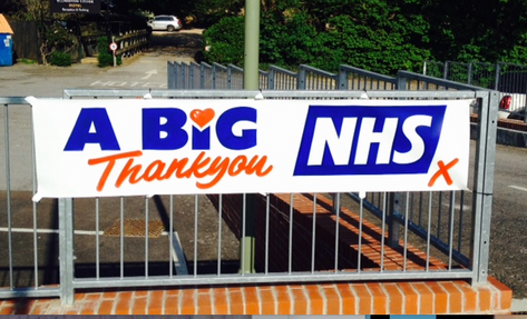 A roundabout shout to the NHS.