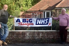 Neighbours share poster to the NHS.