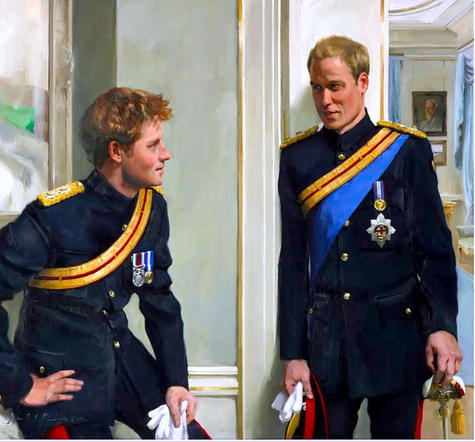 'The Princes'. Painting by Nicky Phillips.