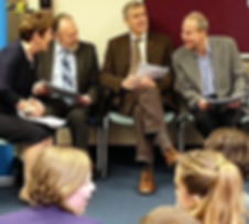 Rotary members conduct mock job interviews for pupils in their final year
