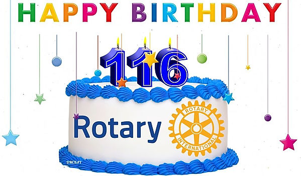 Rotary Clubs Celebrate 116th Birthday