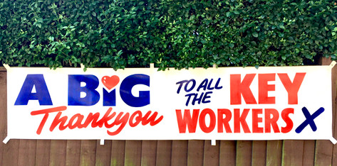 Key Workers acknowledged with giant posterss