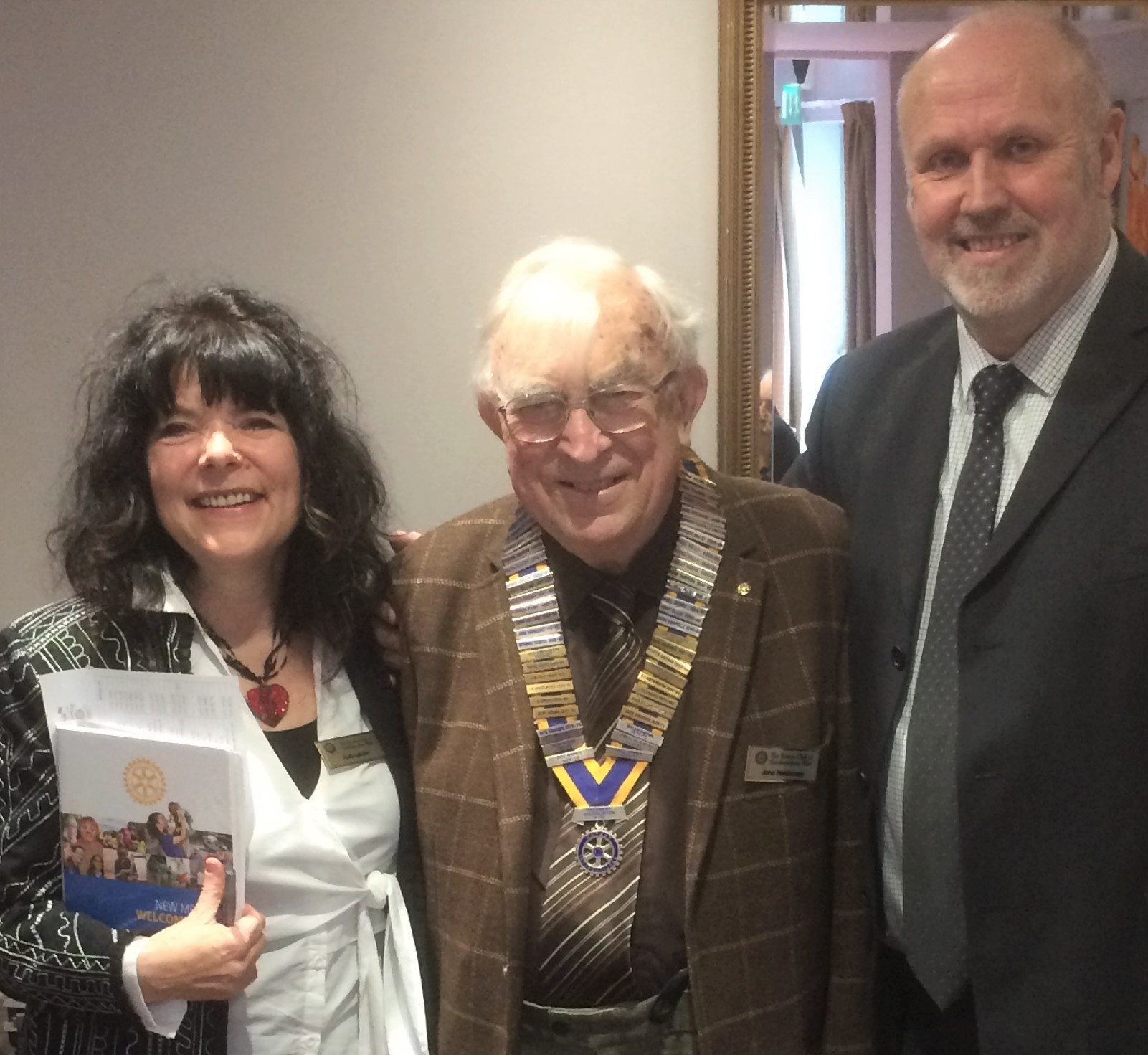 John Parkhouse had the pleasure of inducting Ruth LeLion and Pete Green into RCSW.