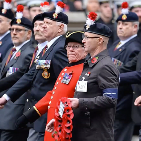 Commemorating the fallen at the Cenotaph Parade.