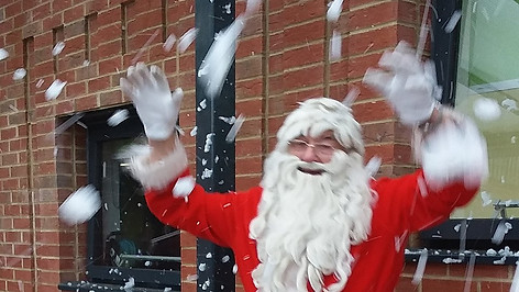 Norman does a snowy Santa