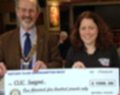 Presentation of £1,000 to Piam Brown Children's Ward, Southampton.