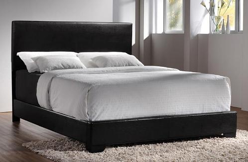 Dark Brown Upholstered Bed Frame
