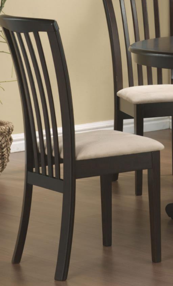 Cappuccino Dining Chairs with Cream Seats