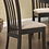 Thumbnail: Cappuccino Dining Chairs with Cream Seats