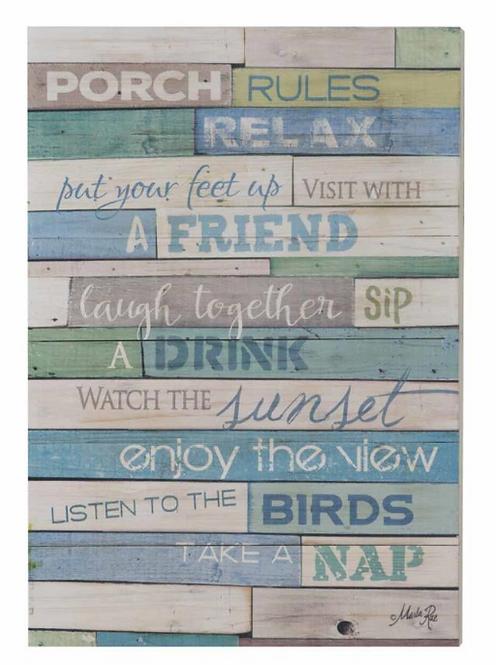 """Rules"" Wall Art"
