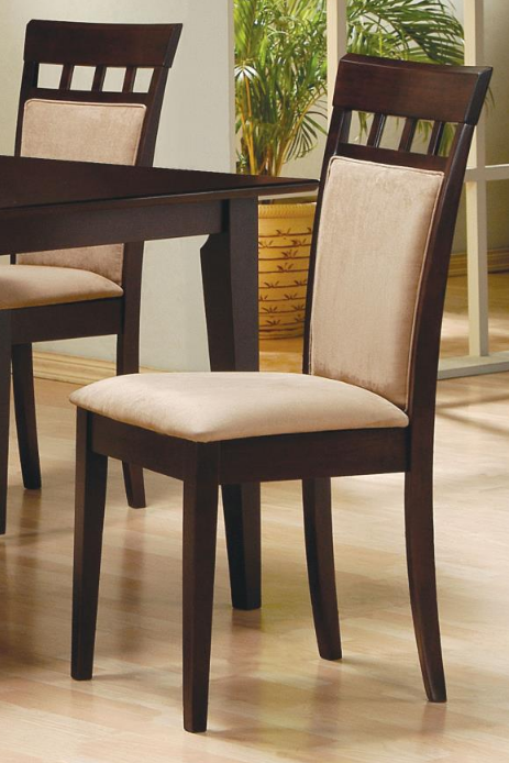 Cushion Back Cappuccino Dining Chair