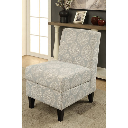Hexagon Accent Chair with Storage