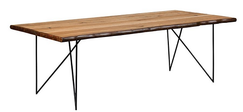 Live Edge Dining Table with Hairpin Legs