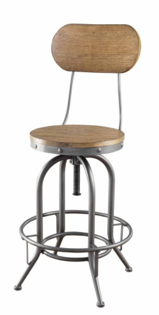 Adjustable Stool with Back