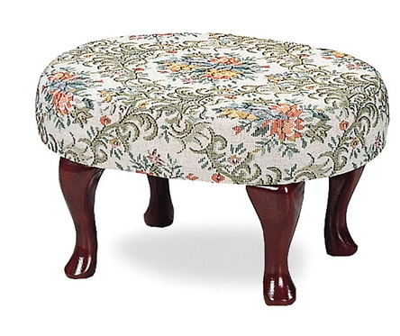 Dark Cherry Footstool