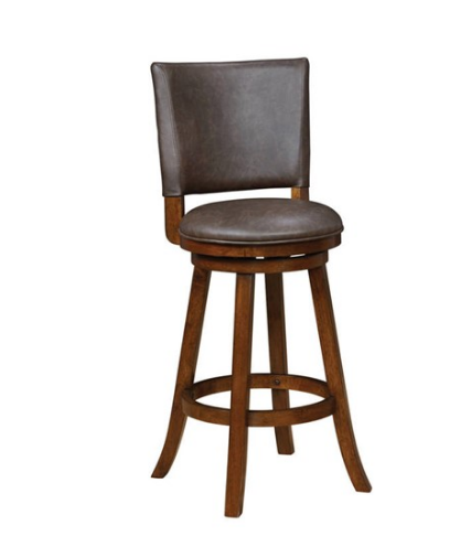 Chesnut & Brown Leatherette Bar Stool