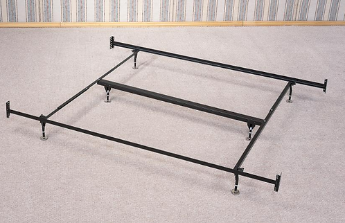 King Bed Frame with Headboard & Footboard Brackets