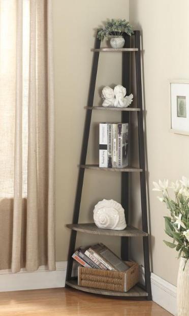 Corner Driftwood Bookcase