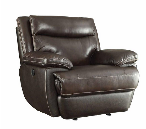 Leather Power Glider Recliner