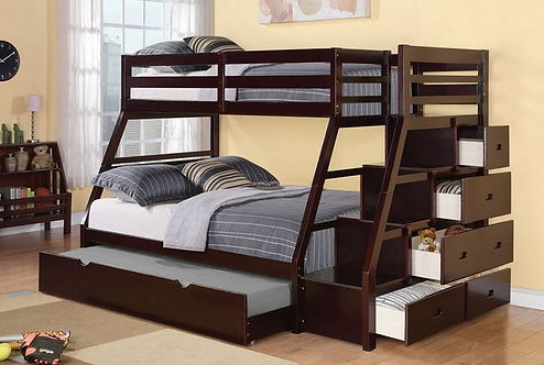 Bunk with Storage & Trundle
