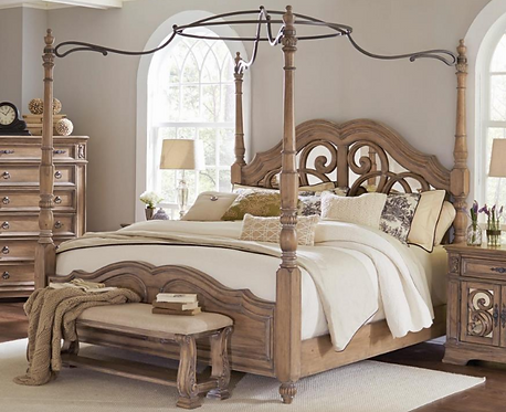 Mirrored Canopy Bed