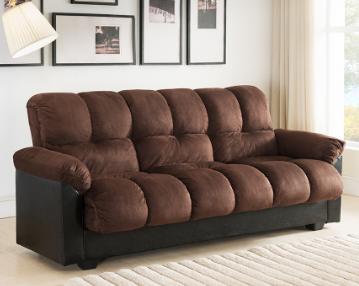 Plush Sofa Bed with Storage